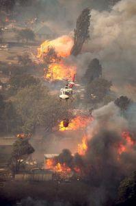 Firestorm in Canberra, Australia. 18th January 2003.