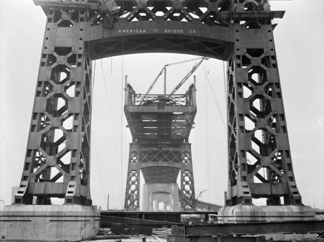 Meeker Avenue Bridge under construction, looking south, showing Brooklyn approach, on June 29, 1939.