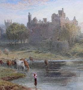 Miles Birket Foster painting Linlithgow Palace Victorian era