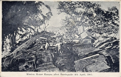 Mission House Kangra after Earthquake 4th April, 1905.