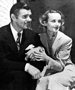 Studio publicity photo of Clark Gable and Carole Lombard after their honeymoon, 1939.