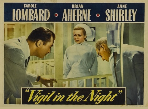 The 1940 Carole Lombard film Vigil in the Night had its premiere on the 9th of February 1940. The American version was censored by a then pro-Fascist Hollywood whose censors tried to stop Americans from wanting to help Britain.