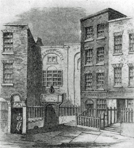 The Musick Hall in Fishacre Street, Dublin, where Messiah was first performed.