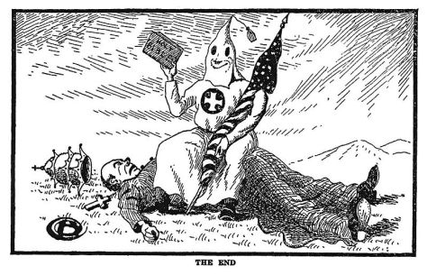 800pxTheendkkkThe End Referring to the end of Catholic influence in the US. Klansmen Guardians of Liberty 1926.