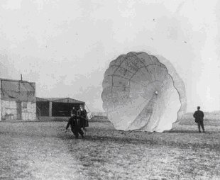 Albert Berry's parachute jump in 1912 1st March