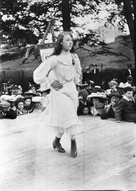 Cassie O'Neill of Glenarm dances at the Feis in 1904