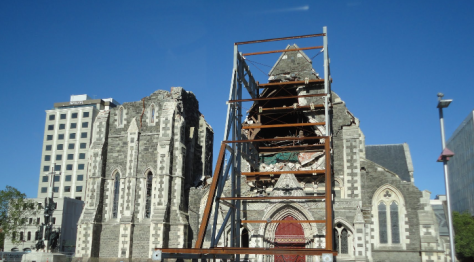ChristChurch Cathedral Christchurch New Zealand Post-Earthquake