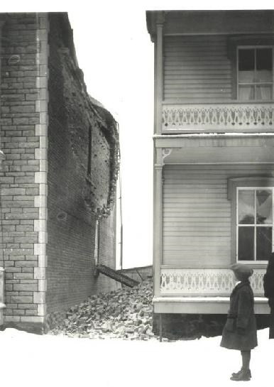 Damage in Shawinigan, Quebec, from the February 28, 1925, Charlevoix-Kamouraska earthquake.