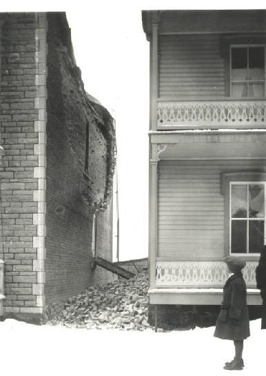Damage in Shawinigan, Quebec, from the February 28, 1925, Charlevoix-Kamouraska earthquake.