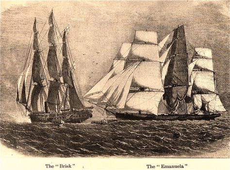 On the 10th of August, 1860, the slave ship Emanuela was captured by the British HMS Brisk, with 846 slaves on board. The slave trade had been illegal in Britain for decades by this time.