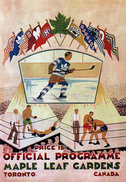 Toronto Maple Leafs opening night programme at MLG,12th November, 1931.