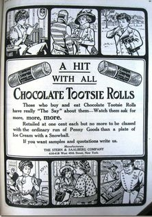 Vintage Tootsie Roll Advertisement
