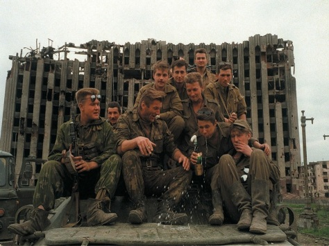 drunk russian troops in chechnya 1990s