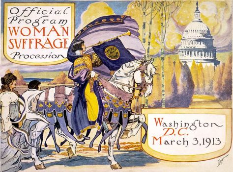 Official program - Woman suffrage procession March 3, 1913.