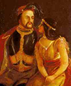 Pocahontas and John Rolfe portrait 1850s