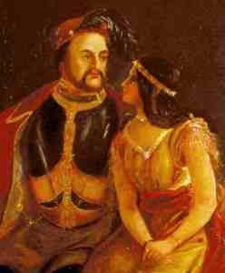 Pocahontas and John Rolfe portrait 1850s