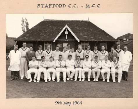 Stafford Cricket Club Centenary Match versus the M.C.C. in 1964.