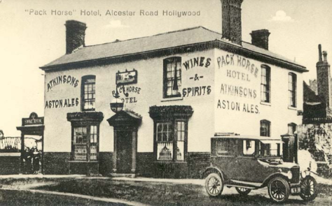 The Packhorse 1910.  Hollywood Worcestershire England. Edwardian Britain.