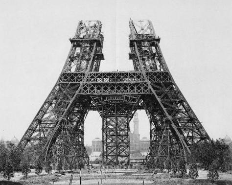 Construction_tour_eiffel415 May 1888 Start of construction on the second stage. Eiffel Tower Paris France
