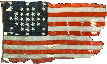 In February 1865, Union forces took Charleston, and recaptured Fort Sumter. On April 14, 1865, the same flag (above) that had been taken down four years before, was raised over the fort during a celebration of its recapture.