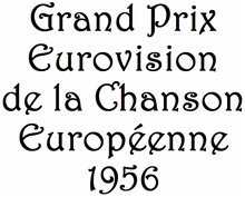 Official logo of the Eurovision Song Contest 1956. First Contest.