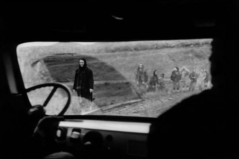 Women and children in flight on the road from Samashki after a massacre, Grozny, Chechnya.