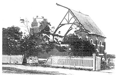 Brighton-tornado The Methodist Church, Hawthorn Road, Brighton, Australia, destroyed in the Brighton tornado on February 2nd, 1918.