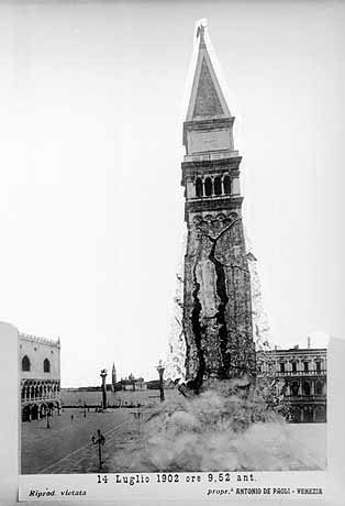 CROLLO1Fake photo purporting to show the collapse of the original Campanile in 1902. This picture became famous around the world.