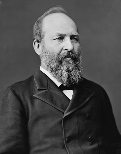 James Abram Garfield (November 19, 1831 – September 19, 1881) was the 20th President of the United States, serving from March 4, 1881, until his assassination later that year.