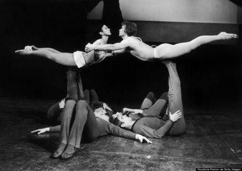 MARGOT FONTEYN ET RUDOLF NOUREEV DANS LE BALLET PARADIS PERDU 1967
