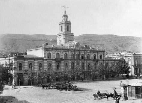 Tbilisi in XIX century, Freedom Square. 19th century. Georgia.