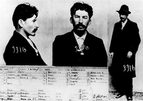 The information card on Joseph Stalin, from the files of the Tsarist secret police in St. Petersburg. Stalin's_Mug_Shot