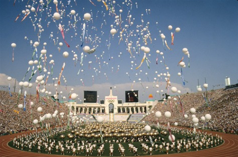 84_olympics_ceremonyLos Angeles Olympic Opening Ceremony.