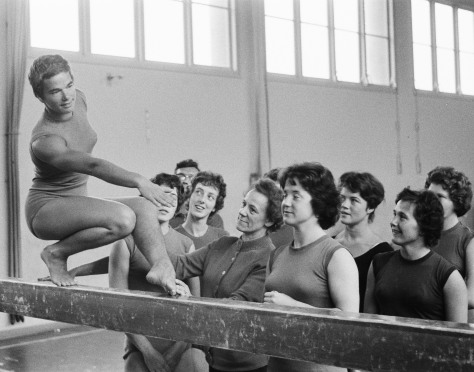 Dutch_Olympic_team_Artistic_Gymnastics_1960 Women's gymnastics black and white vintage gymnastics 11th August 1960