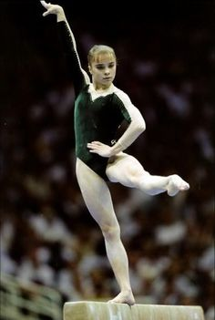 Lilia Podkopayeva balance beam 1996 Atlanta Olympics Ukraine Ukrainian