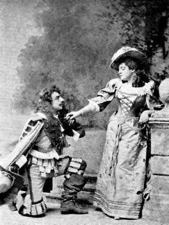 Manners_and_DorothyCourtice Pounds (John Manners) and Lucille Hill (Dorothy Vernon), 1892.