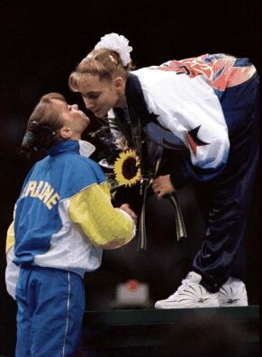 millerpod Lilia Podkoayeva Ukraine Shannon Miller USA 1996 balance beam olympic games