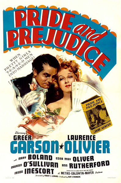 PrideundprejudicePoster for the 1940 film Pride and Prejudice.