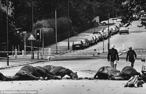 The Hyde Park and Regent's Park bombings occurred on 20 July 1982