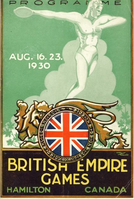 British_Empire_Games_programme_Philip_BarkerBritish Empire Games programme Philip Barker