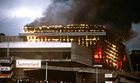Fire-at-Summerland-complex-581083The Summerland disaster occurred when a fire spread through the Summerland leisure centre in Douglas on the Isle of Man on the night of 2 August 1973.