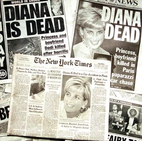 princess-diana-death-headlinesPrincess Diana 1st July 1961 - 31st August 1997 newspaper covers