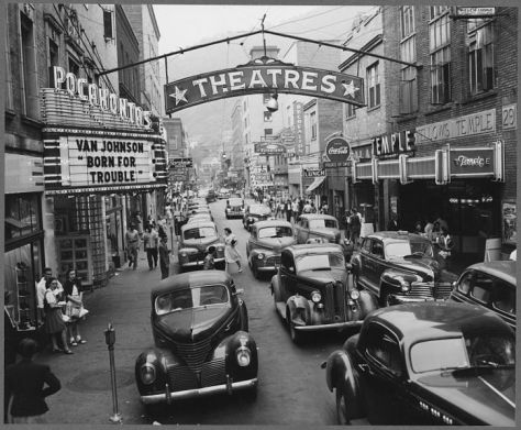 Saturday afternoon street scene. Welch, McDowell County, West Virginia. 24th August 1946.