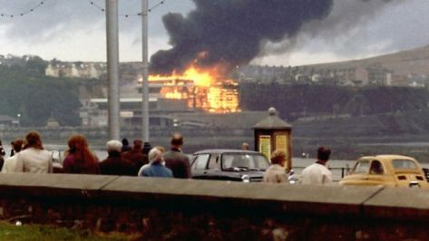 The Summerland disaster occurred when a fire spread through the Summerland leisure centre in Douglas on the Isle of Man on the night of 2 August 1973.