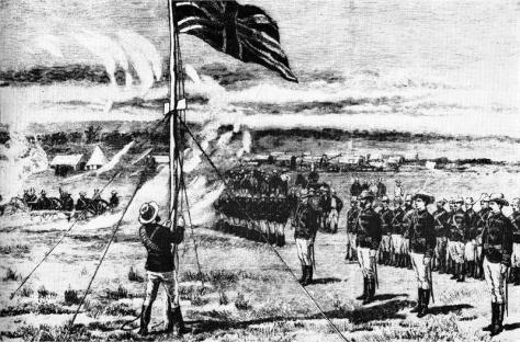 hoisting_the_flag_at_fort_salisburythe-pioneer-column-hoists-the-union-jack-on-the-kopje-overlooking-the-city-13-september-1890-fort-salisbury-harare-zimbabwe