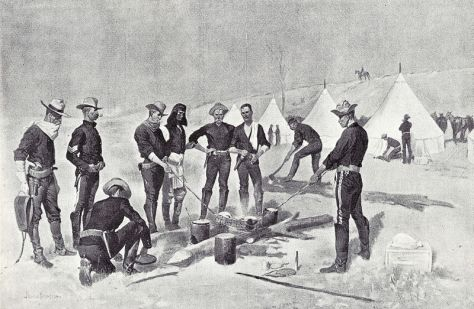 800px-remingtonuscavalrychristmasbeefroastroasting-the-christmas-beef-in-a-cavalry-camp-an-illustration-by-frederic-remington-published-december-24-1892-in-harpers-weekly