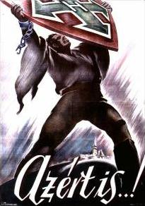 azertispropaganda-poster-for-hungarys-fascist-arrow-cross-party-1940s
