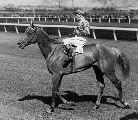 high-resolution-shadow-free-scan-from-original-photo-dual-melbourne-cup-winner-peter-pan-jockey-darby-munro-1932-1934
