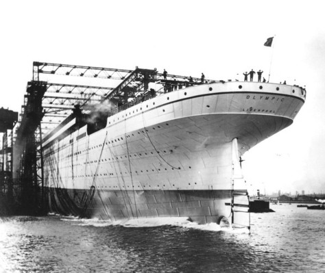 rms-olympic-being-launched-20th-october-1910-belfast-ireland