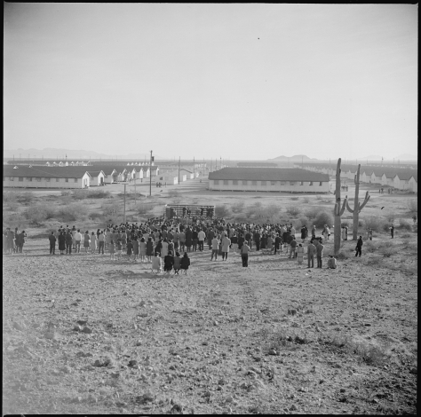 gila-river-relocation-center-rivers-arizona-sunrise-services-christian-were-held-thanksgiving-usa-japanese-internment-camp-26th-november-1942